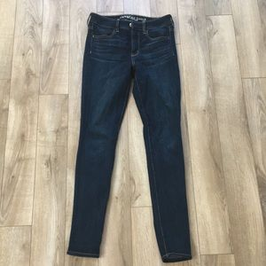 American eagle high rise dark wash jeans
